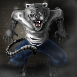 This is the main character in my comic series werehunter