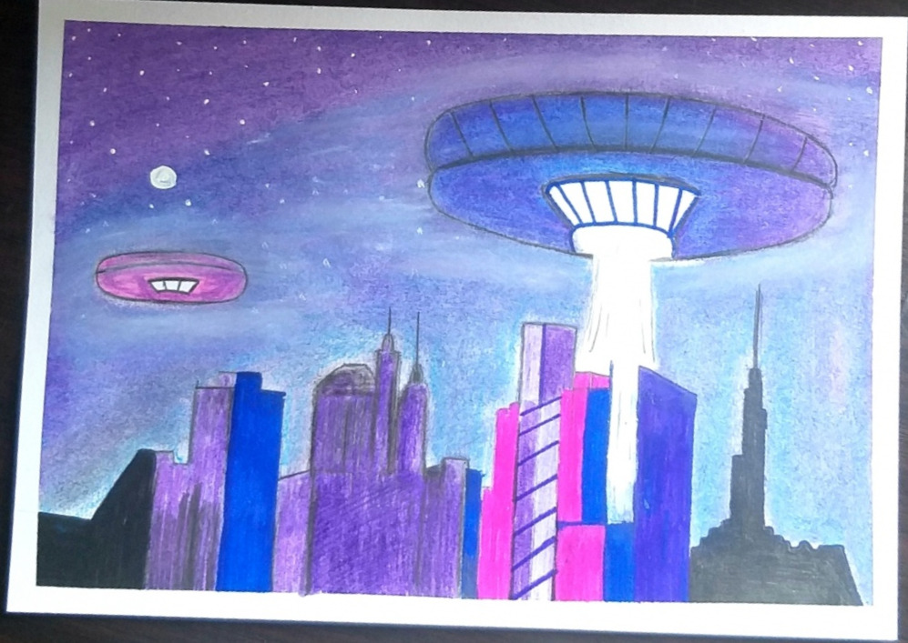UFO In New York City | Drawing With O...