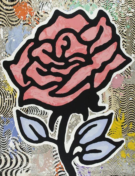 Donald Baechler, 'Red Rose