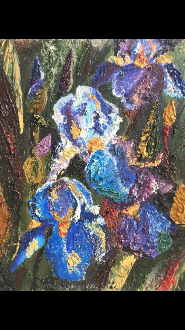 Flowers of iris.